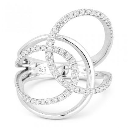 DR12927 white gold diamond ring