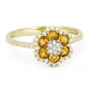 DR7732 citrine flower ring