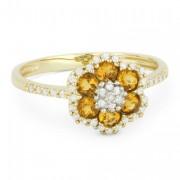 DR7732 citrine flower ring