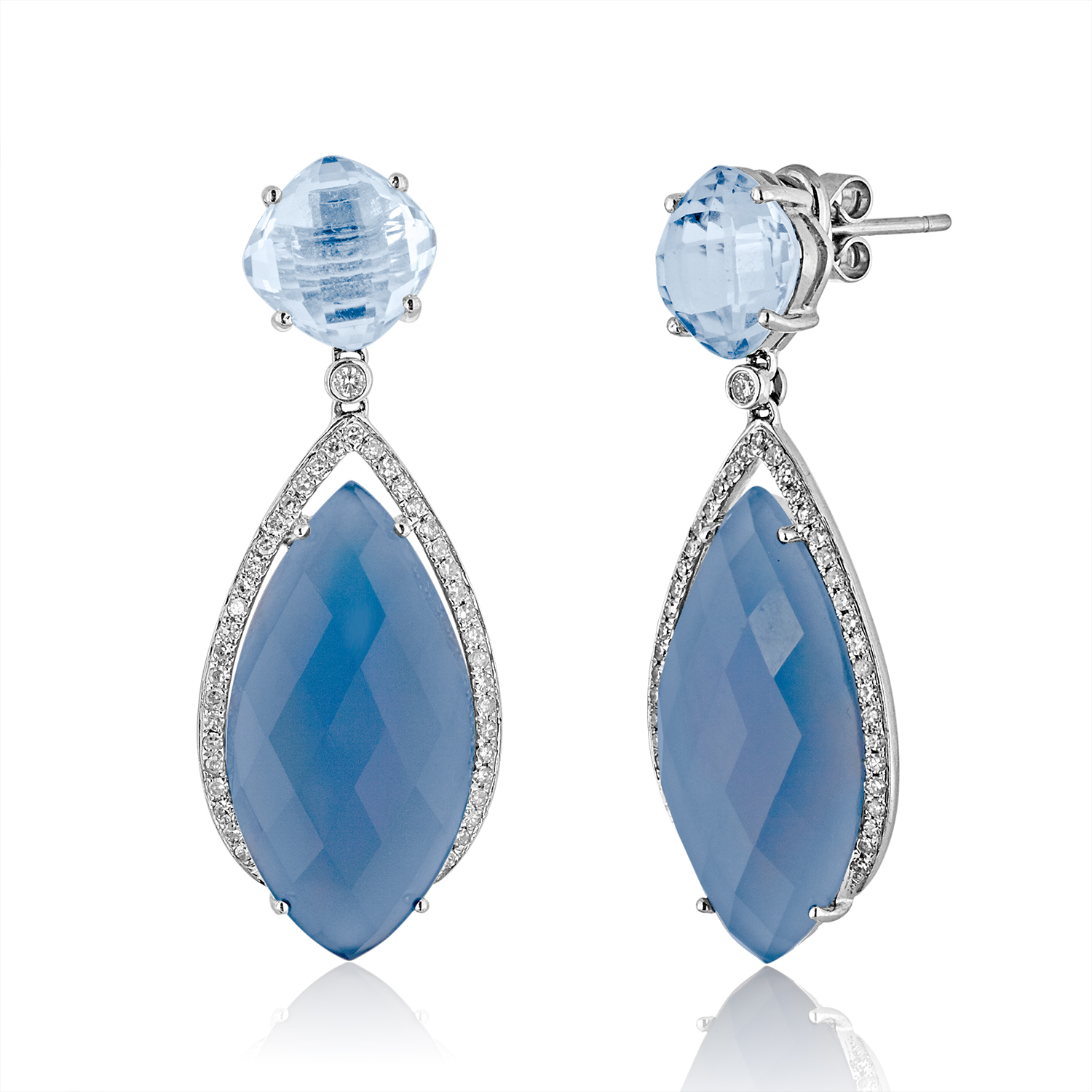 products burns jewellers earrings ltd topaz blue
