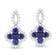 Sapphire Earrings Pave Diamond DE10496
