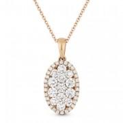 DN3562 oval diamond pendant