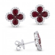 DE11143 ruby red earrings