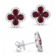 DE11143 ruby red earrings