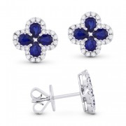 DE11231 sapphire flower earrings
