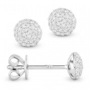 White Diamond Pave Studs
