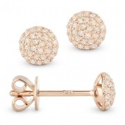 pave diamond studs