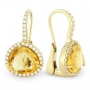 DE9869 citrine earrings leverback