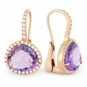 DE9938 amethyst earrings