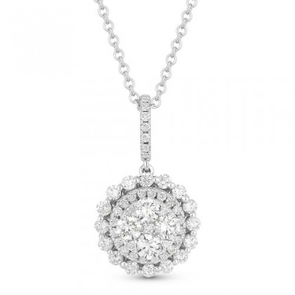 DN4022 round diamond pendant