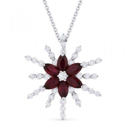 RUBY FLOWER STAR NECKLACE