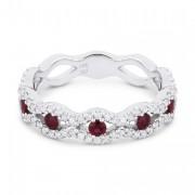 DR12704 ruby diamond ring