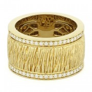 wide gold band ring DR9467