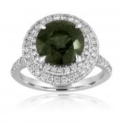 green blue sapphire halo diamond ring