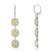3 tier diamond earrings