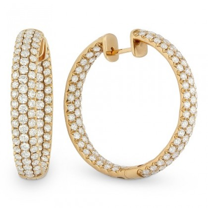 ROSE DIAMOND HOOPS