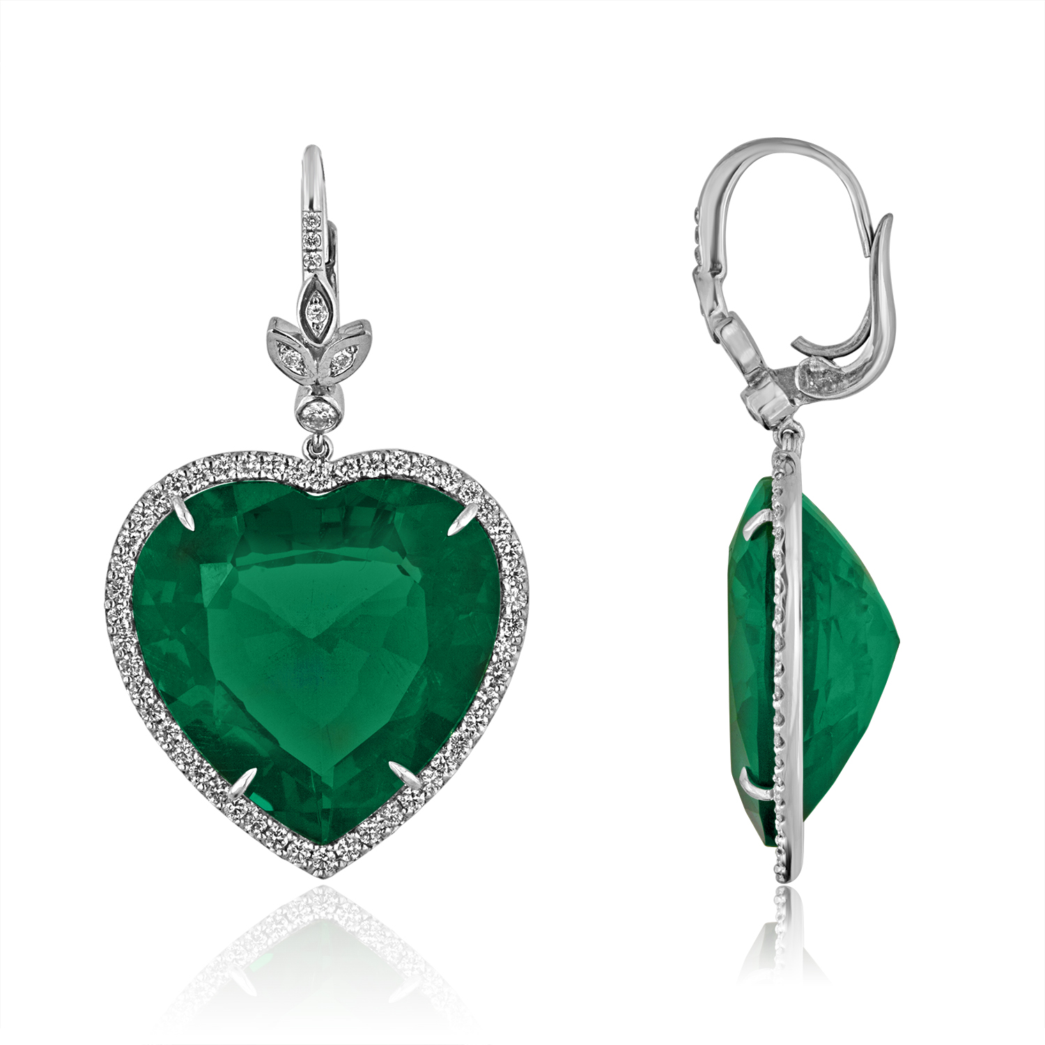 shaped emerald product diamond copy gold img stars ny heart earrings